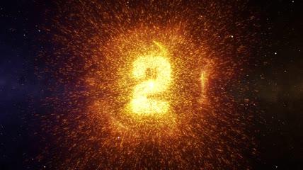 震撼粒子冲击波金色文字企业年会10秒倒计时开场视频