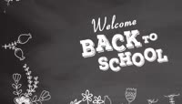 黑板粉笔主题的树形校园毕业纪念册AE模板