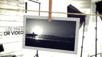 绳夹照片摄影工作室片头AE模板