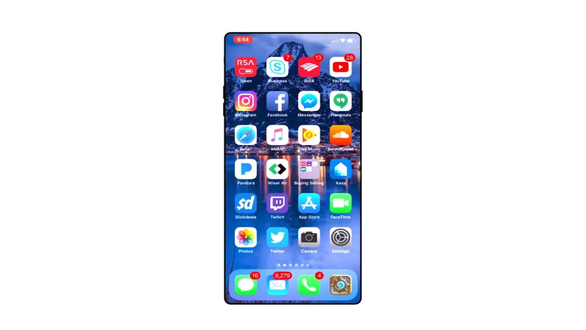 1080P手机宣传素材、iphone概念机