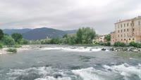 航拍欧洲小镇夏天美丽景色