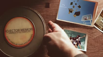 毕业季怀旧同学录纪念相册AE模板