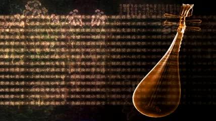 中国古代琵琶旋转视频素材