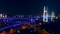 高清航拍上海南浦大桥