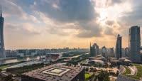 广州城市延时摄影实拍视频