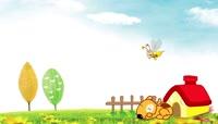 原创儿童卡通动画背景视频素材