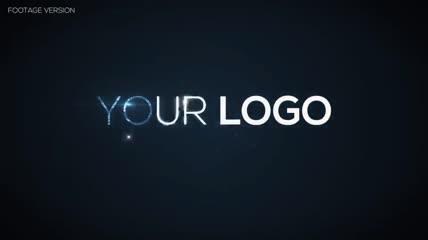 大气唯美文字图片穿梭汇聚logo展示AE模板
