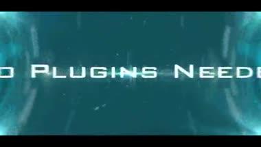科技感的字幕展示AE模板