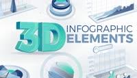 商务公司企业3D效果曲线饼状图柱状图业绩数字统计报告