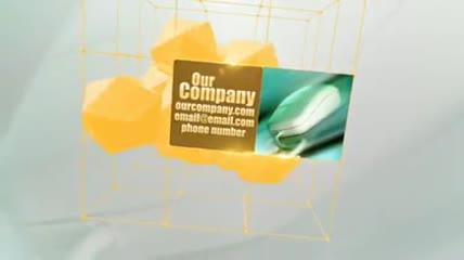 科技网格空间宣传展示动画