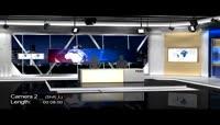 三维效果的虚拟新闻演播室AE包装模板
