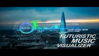 未来科技风格的音频曲线可视化动画AE模板