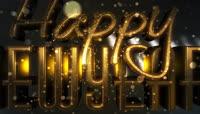 Happy New Year,3组精美绚丽的新年快乐视频素材