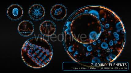 医学医疗主题的HUD全息科技元素视频素材