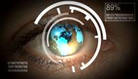 从眼中看世界未来科技风格的视频素材