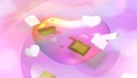 粉色爱心与掉落的巧克力视频素材