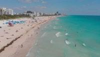 海滩游乐场航拍视频素材