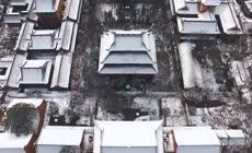 杭州城市宣传片雪景高清实拍视频素材