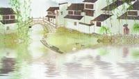 原创中国风江南春天小桥人家视频素材