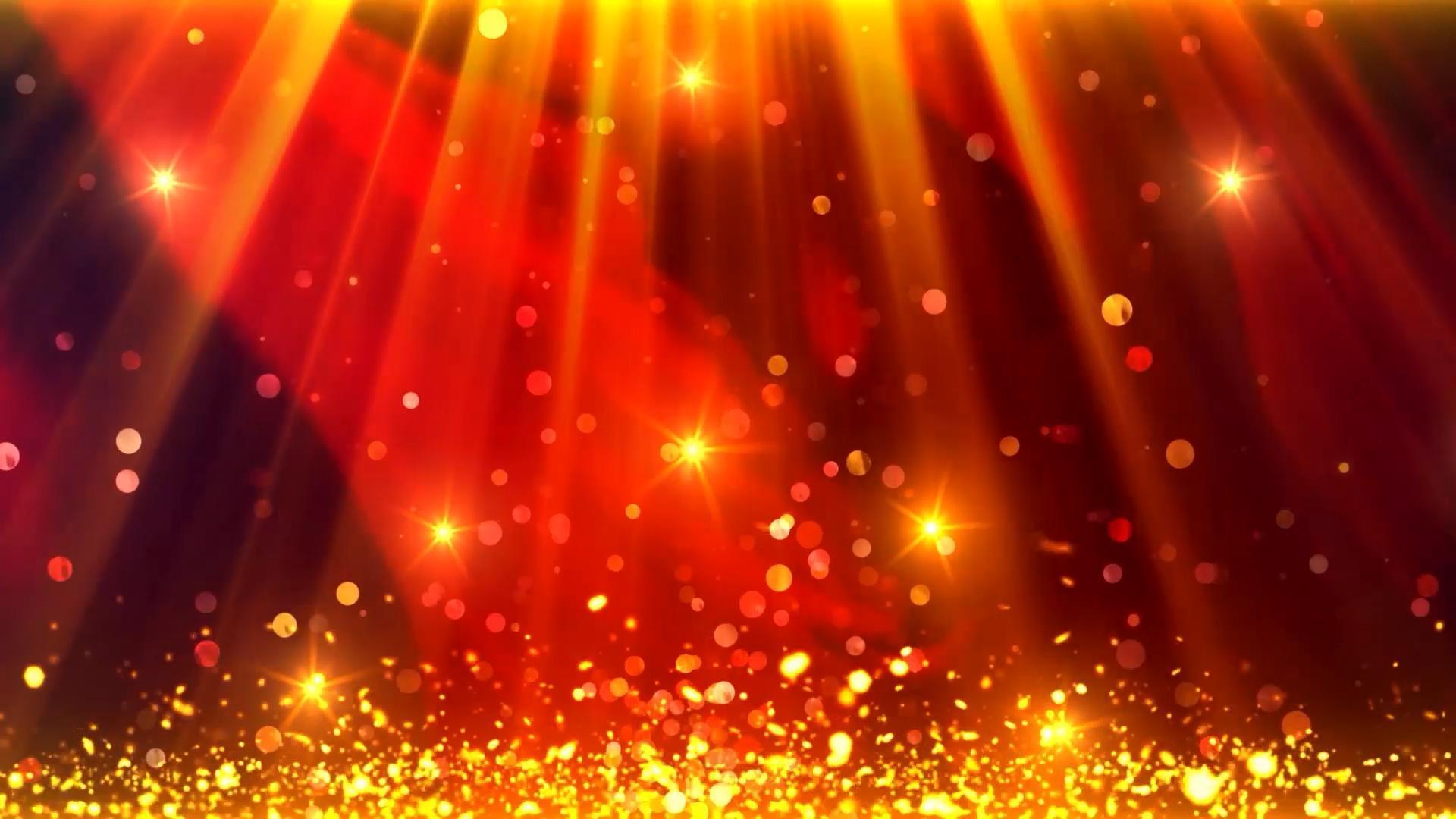 金色光束粒子舞台颁奖LED素材