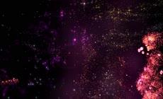 浪漫动态粒子星空