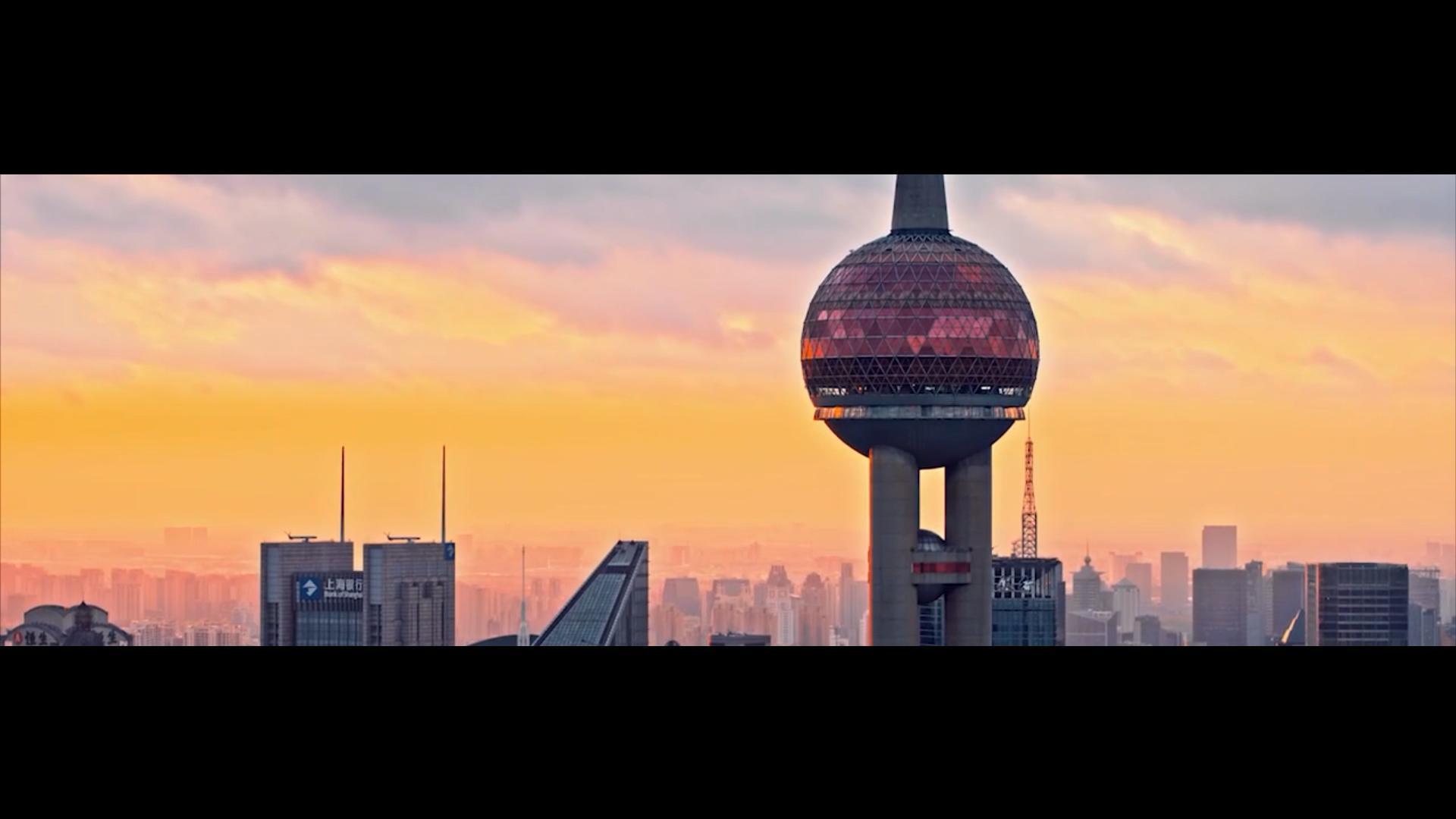 高清上海风光超宽银幕素材