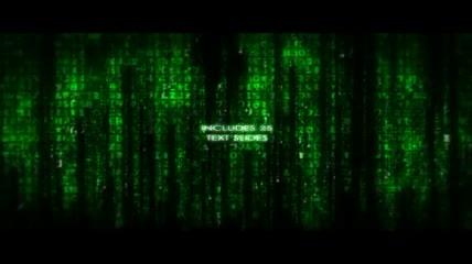 模拟黑客帝国的字幕展示AE模板