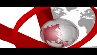 三维效果的全球新闻栏目开场包装AE模板