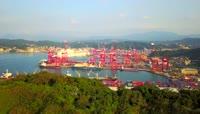 台湾基隆港口码头游轮高清实拍视频素材