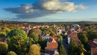 欧洲小镇恬静田园生活高清实拍视频素材
