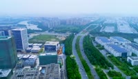 航拍深圳华为厂区视频素材