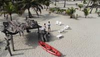 哥伦比亚大海风光海边沙滩
