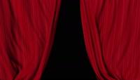 舞台红色幕布闭合素材
