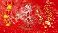 2018喜庆狗年吉祥春字新年春节联欢晚会企业年会开场片头AE模板