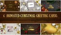 6组圣诞节祝福电子贺卡AE视频模板