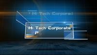 科技投影效果企业宣传AE模板