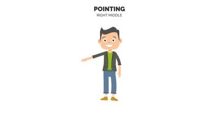 开通人物口型表情动作姿势动画情绪变化身体构成组件AE素材库