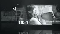黑白照片时间线往事照片集展示