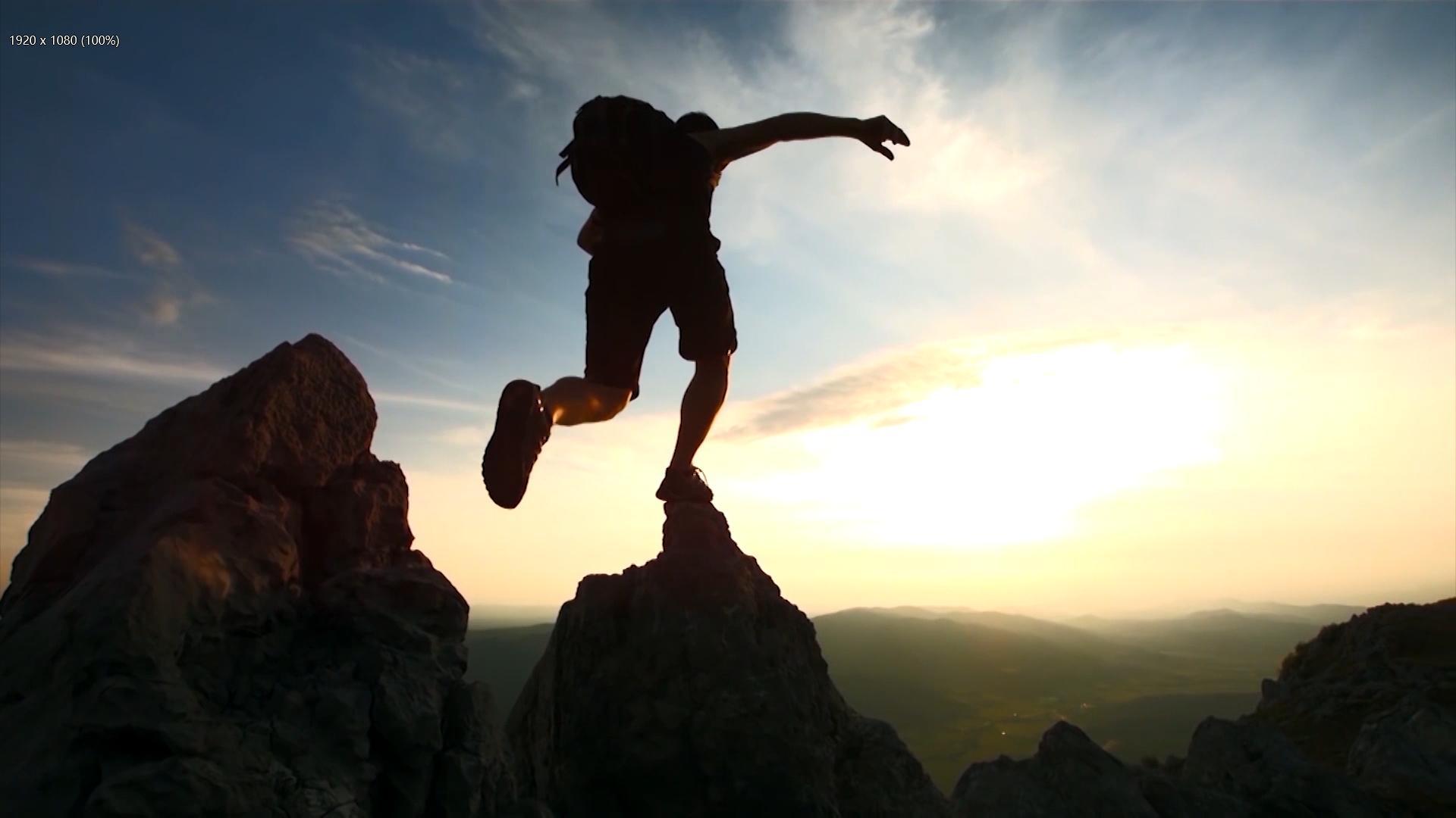 梦想前行企业文化团队共赢励志困难登山奔跑