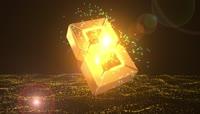 大气震撼的黄金粒子10秒倒计时