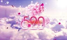 粉色云层520表白日片头AE模板