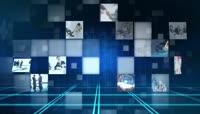 蓝色科技全息LOGO展示AE模板