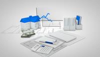 3D销售业绩背景素材5