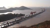 航拍鱼山大桥