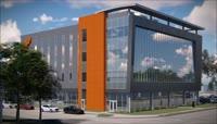 完整的新家庭办公大楼和金融中心的视频展示