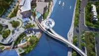 三亚海棠湾大桥三维建筑动画