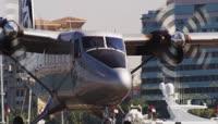 飞机高空跳伞表演视频素材