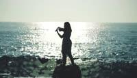 泰坦尼克号我心永恒美女海边拉小提琴