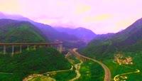 大美中国路 雅西高速 干海子特大桥 壮美景观