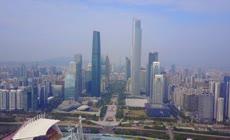 航拍广州城市